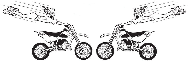 High Flying Motorbike Decal