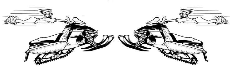 High Flying Snowmobile Decal