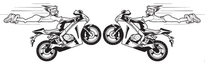 High Flying Sportbike Decal