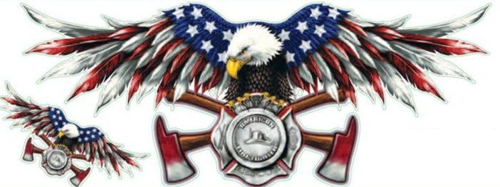 USA FD Eagle Decal