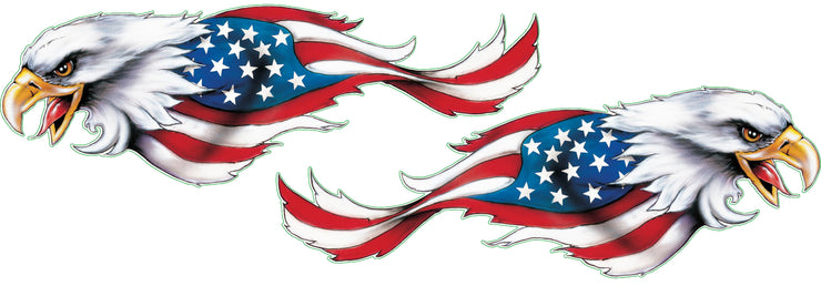 USA Eagles Right & Left Decal Set
