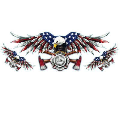 USA Fire Department Eagle Large Decal