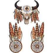 Cow Skull  and Dream Catcher Decal Set