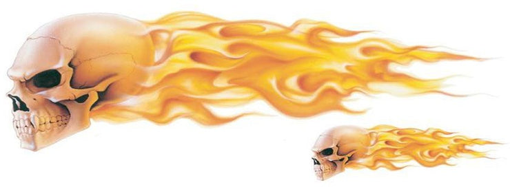 Realistic Flaming Skull Decal