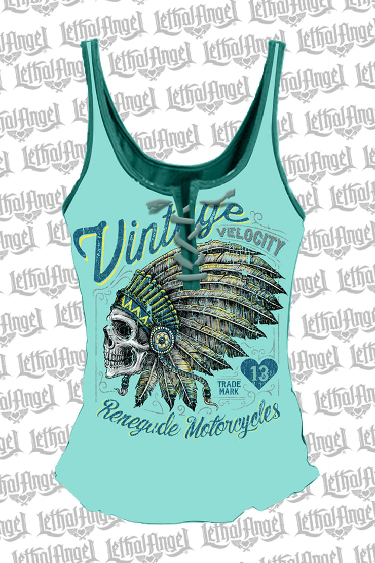 Renegade Motorcycles Lace Up Tank Top