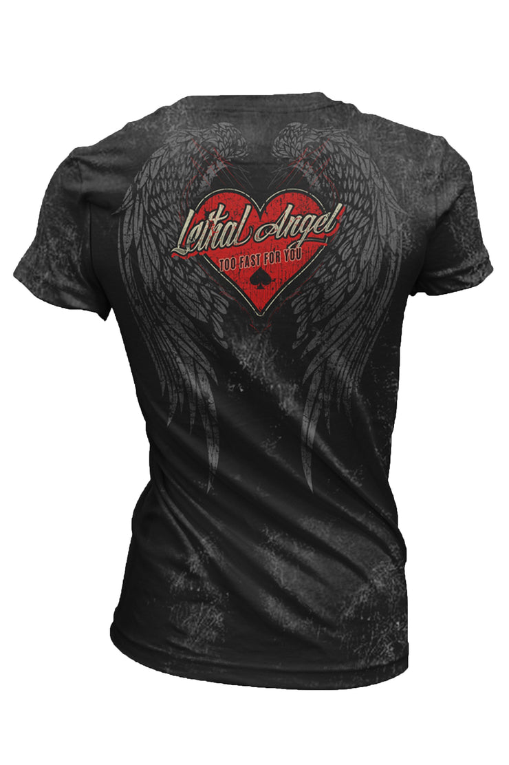 Built To Last Hot Rod Deep V-Neck Tee