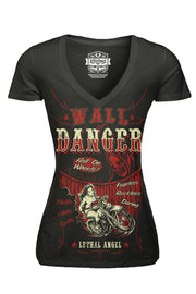 Wall Of Danger V-Neck Tee