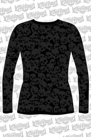 Butterfly Skull Burnout Long Sleeve