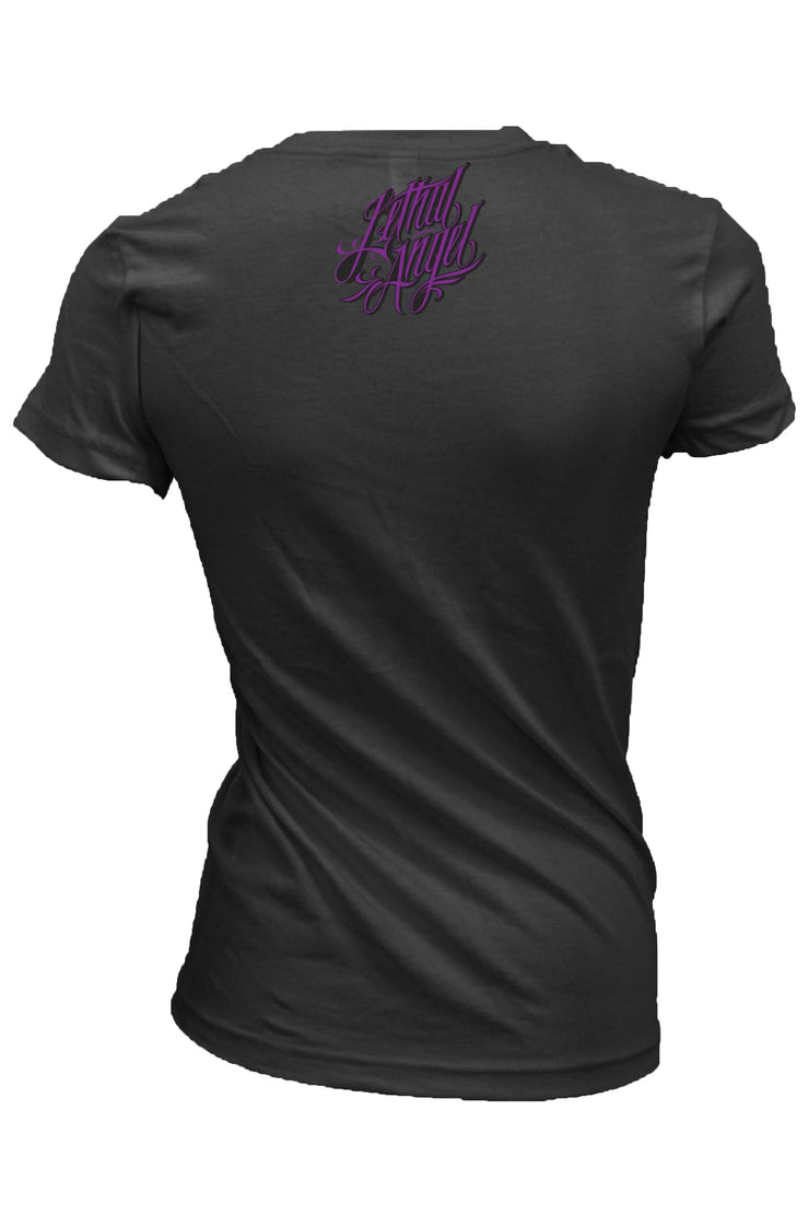 Butterfly Light Motorcycle Rider V Neck Tee