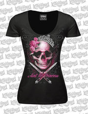 Ain't No Princess Skull Scoop Neck T-Shirt