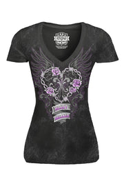 Heart Breaker V Neck Tee