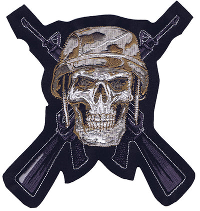 Desert Camo Skull Soldier Embroidered Patch