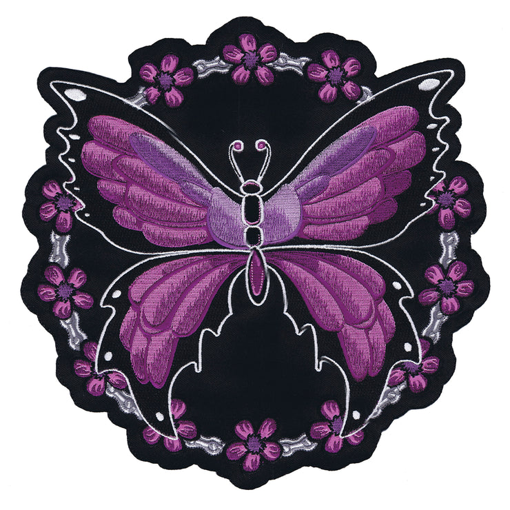 Butterfly Chain  Embroidered Patch