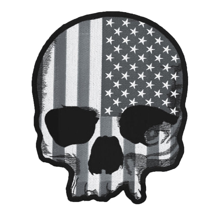 USA Skull Gray Patch