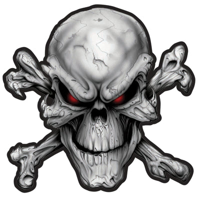 Red Eye Skull Embroidered Patch