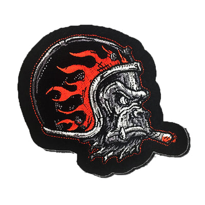 Gorilla Helmet Cigar Embroidered Patch