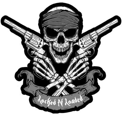 Locked  n Loaded Skull Embroidered Patch