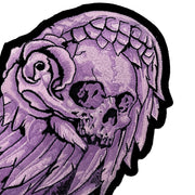 Purple Skull Wing Set Embroidered Patches