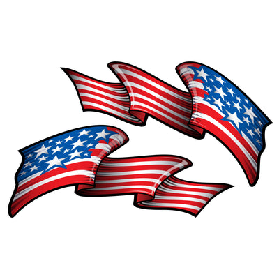 USA Metal Flake Flag Decal