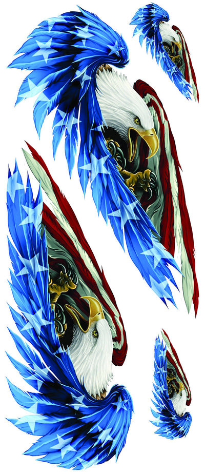 Left n Right USA Feathered Eagle Decal