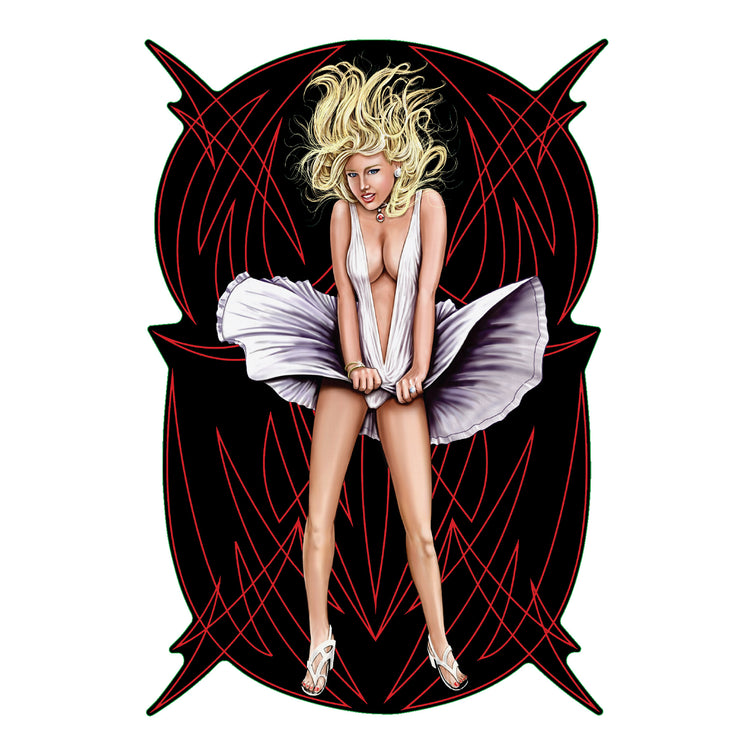 Pinstripe Marilyn - Mini Decal