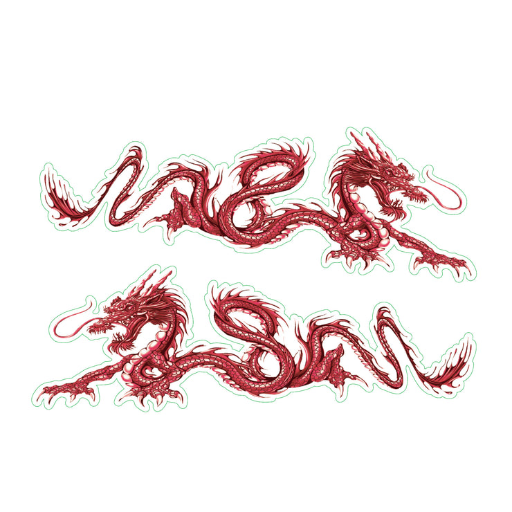 Red Dragons Sticker - Mini Decal
