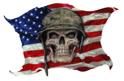USA Flag Army Skull Sticker