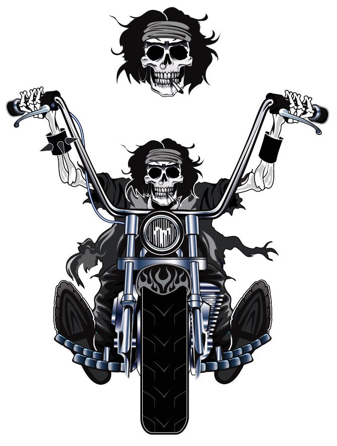 Reaper Biker Mini Sticker