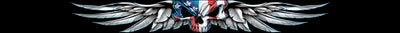 USA Wing SkulL Windshield Visor Decal