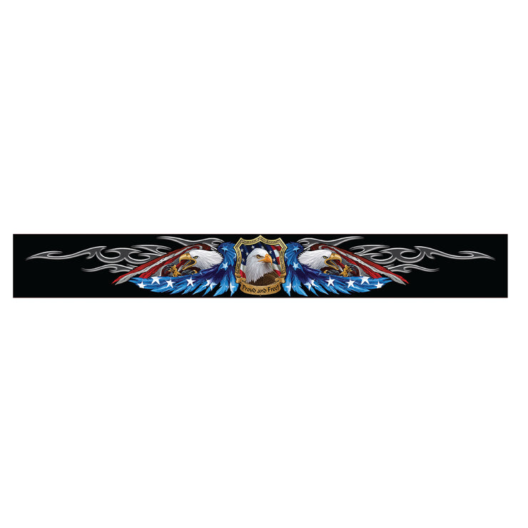 American Flag Eagle Windshield Visor Decal
