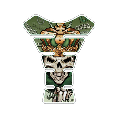 Money Skull King Motorcycle Tank Pad / Motorcycle Tank Protector
