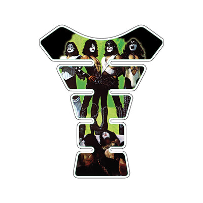 Kiss Love Gun Album Green Motorcycle Tank Pad / Motorcycle Tank Protector