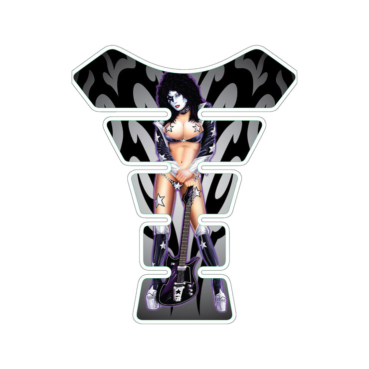 Kiss Star Child Pin Up Girl Motorcycle Tank Pad / Motorcycle Tank Protector