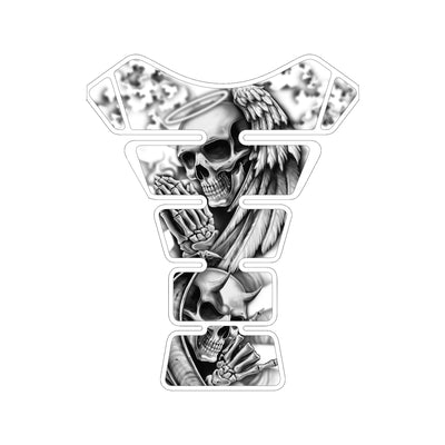Angel and Devil Skull Motorcycle Tank Pad / Motorcycle Tank Protector