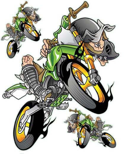 Green Air Motocross Decal