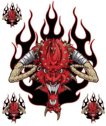 Sinister Pierced Devil Decal