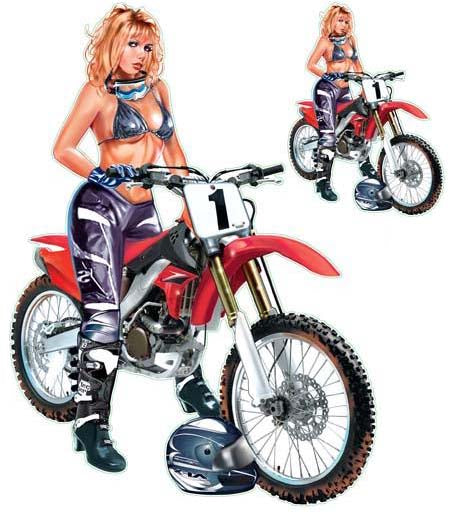 Do It In The Mud Motocross Pin Up Decal
