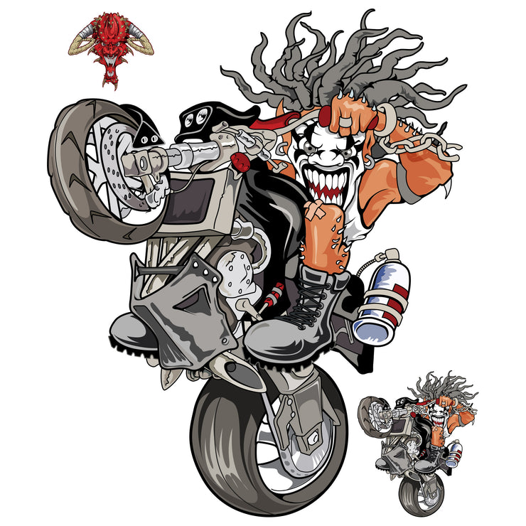Street Fighter Killer Clown Decal