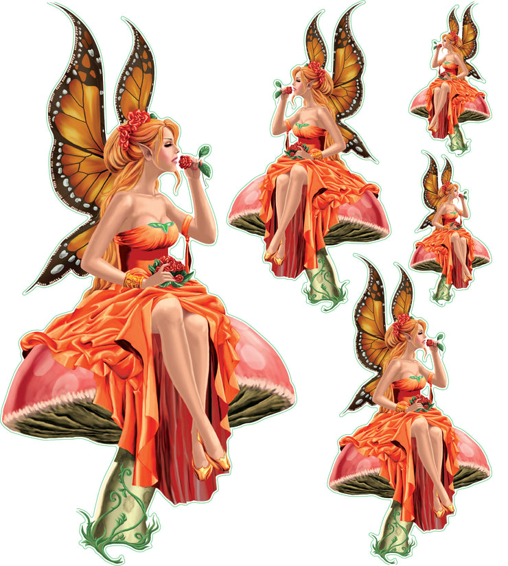 Orange Mushroom Fairy
