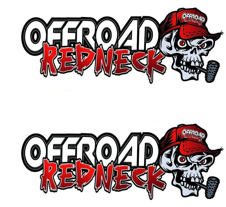 Off Road Red Neck Skull Decal
