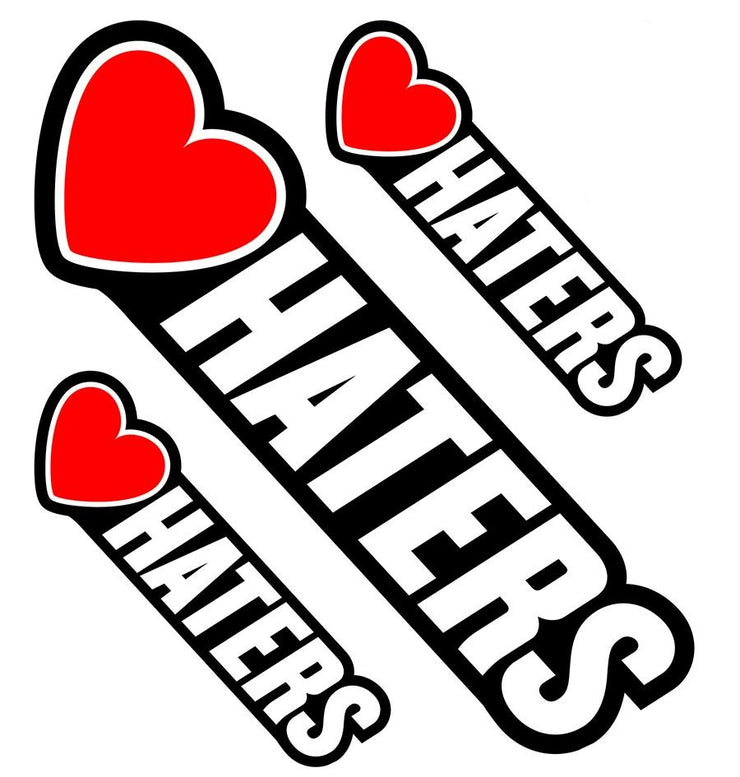 Heart Symbol Hater Decal
