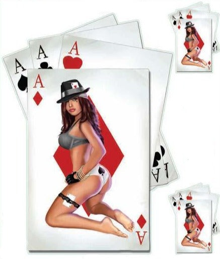 Poker in the Rear Pin Up Girl Decal