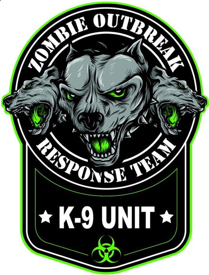 Zombie K9 Unit Decal