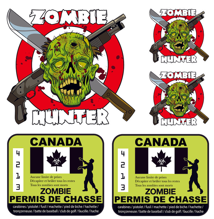 Zombie Hunting Permit Canada Decal Kit
