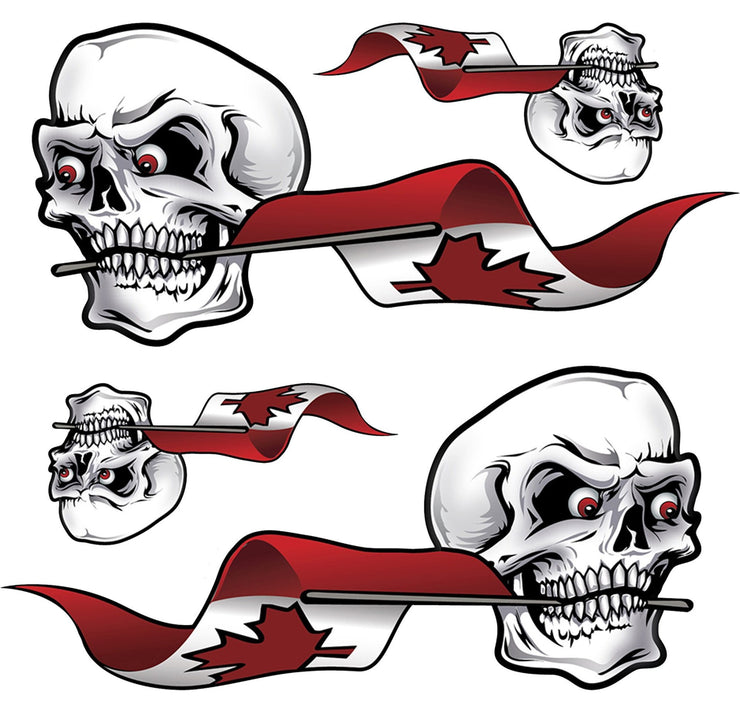 Canada Flag SKull Left & Right Decal