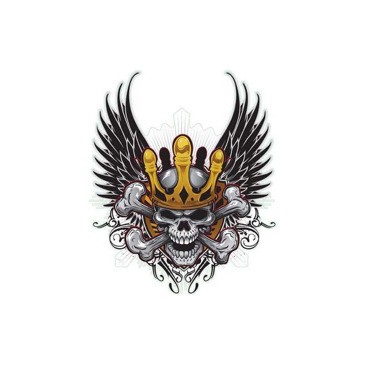 Crown Winged Skull Decal