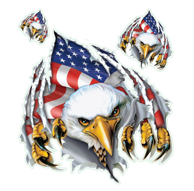 Rip n Tear USA Eagle Decal