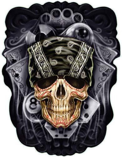 Bandana Skull Decal