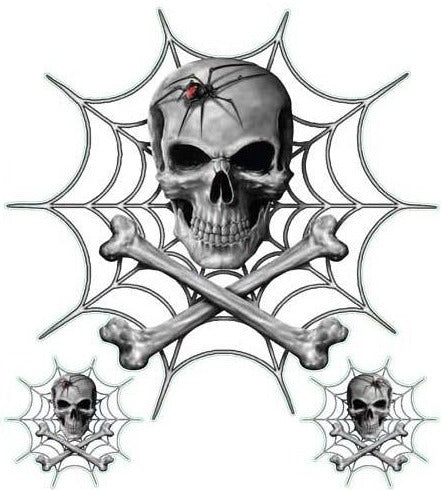 Black Widow Spider Skull Decal