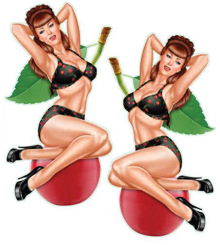 Cherry Pinup Girl Decal